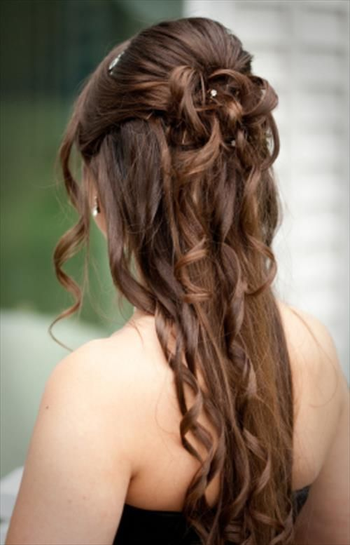 Frisuren Für Lange Haare Homecoming Hairstyles Pinterest