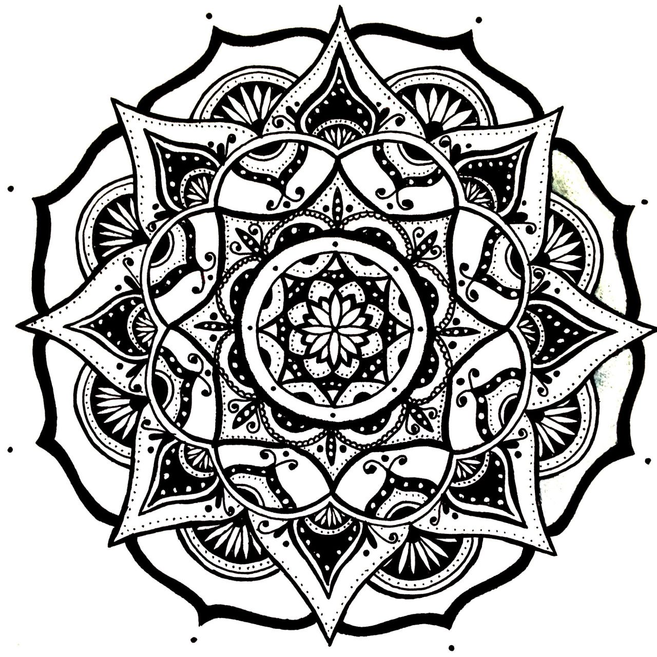 Mandala Designs, moonlitwoodland: quick simple mandala