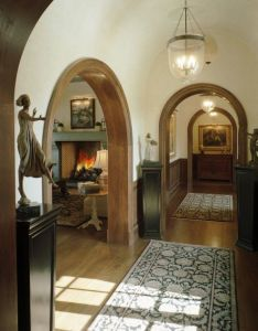 Beautiful arches and then an awesome chevron brick fireplace architecture interiorshouse also dream rh pinterest