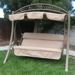 Outdoor Swing Chair Covers Folding Beds Foam 2 Costco Garden Seat Replacements Discount Canopy