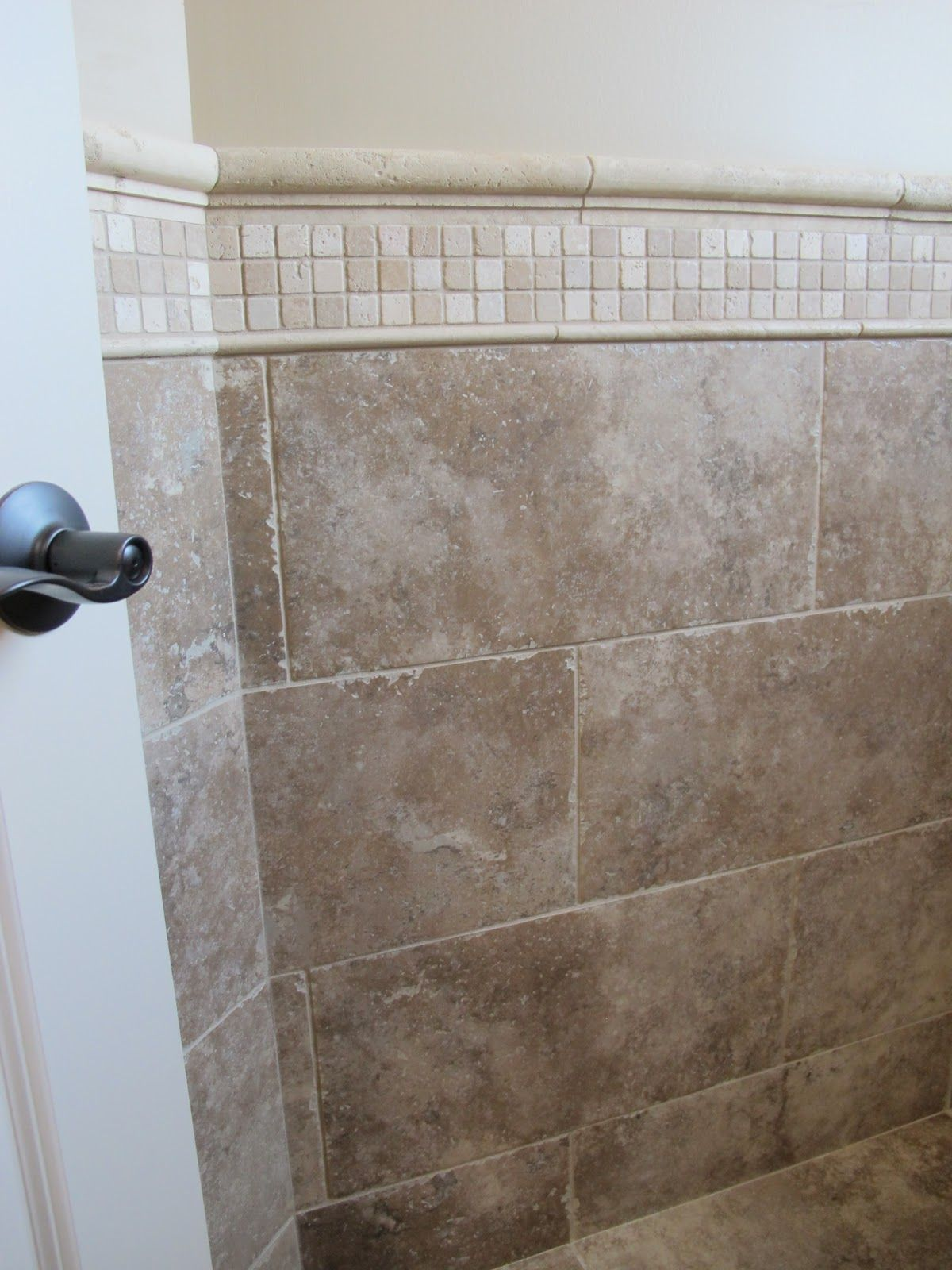 lowes chair rail tile roller walker transport around bathtub surround close up of the