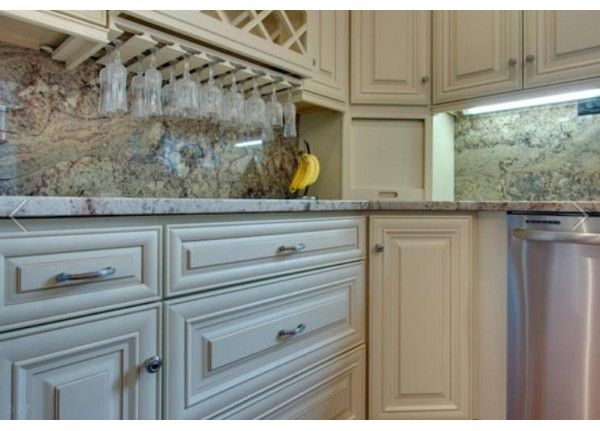 Cream Maple Glazed Cabinets JK JK3  Kitchens  Pinterest