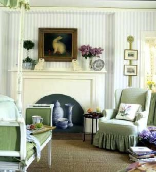 Quaint English Country Style Bedroom Pretty Fireplace With A