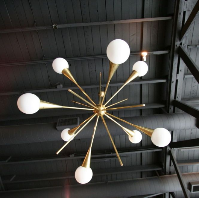 60 S Italian Sputnik Chandelier From A Unique Collection Of Antique And Modern Chandeliers Pendants