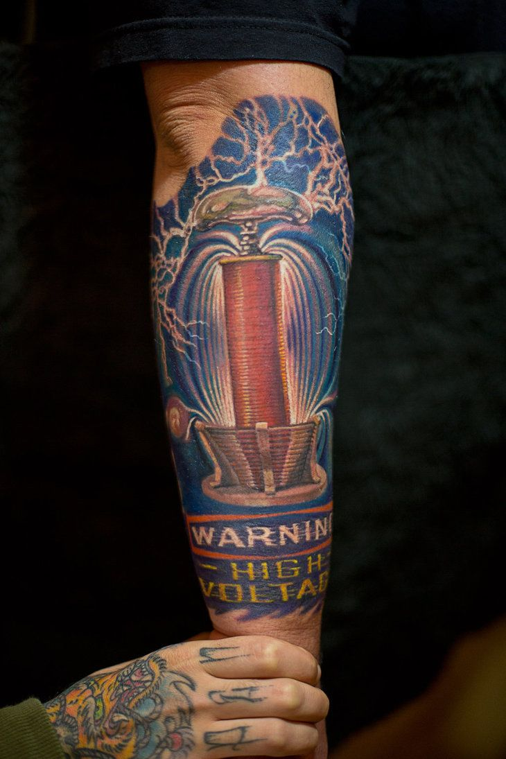 Tesla Coil Schematic Tattoo Tesla Coil Diagram