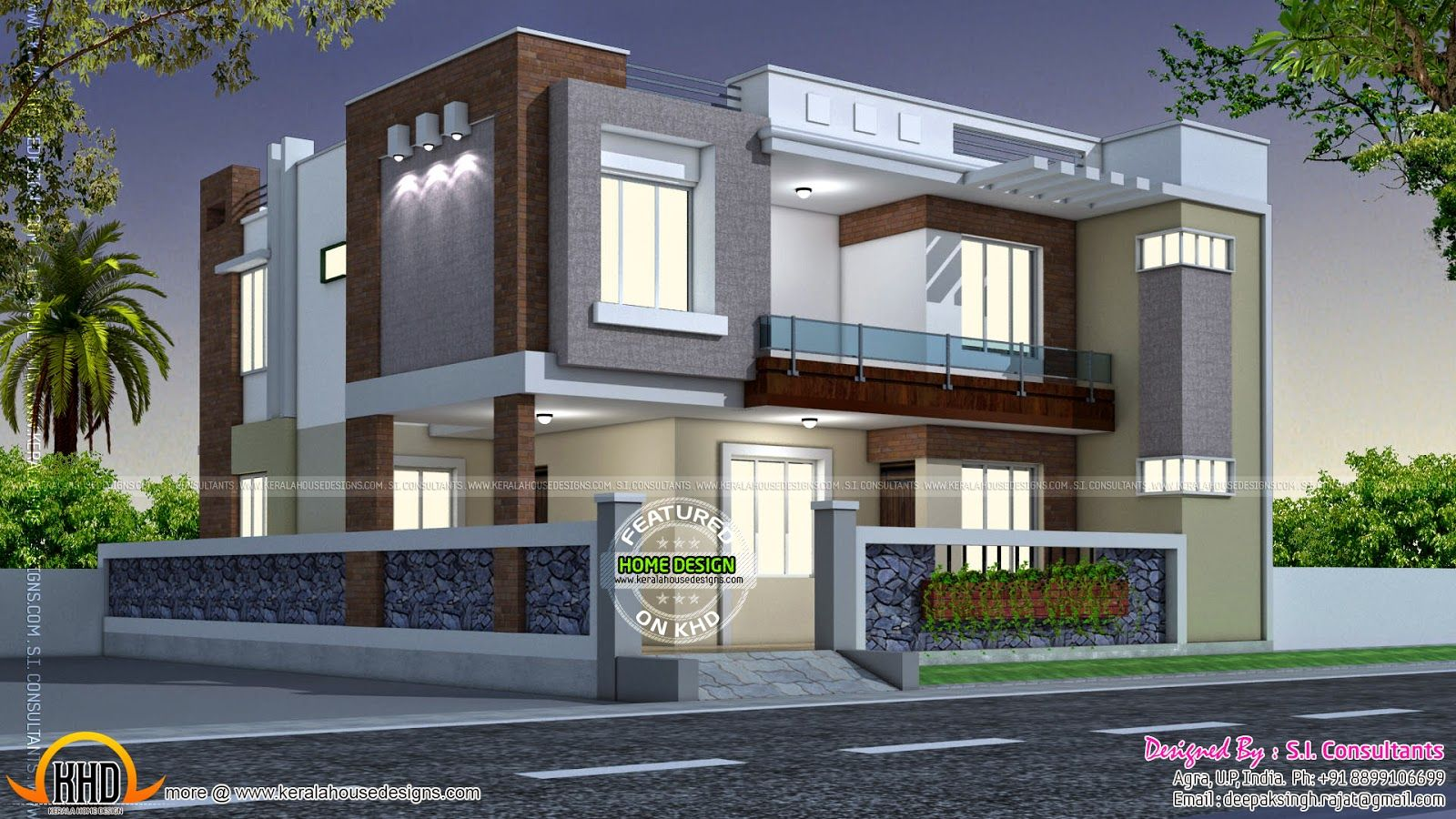 Modern Style Indian Home Square Feet Modern Contemporary Mix Home