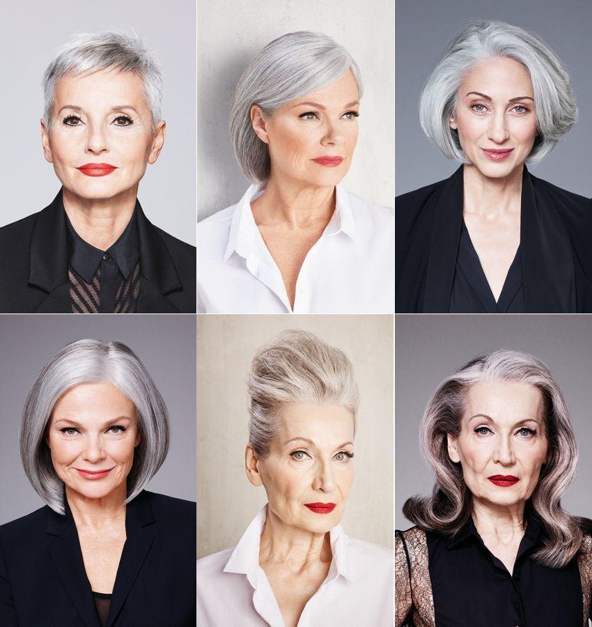 Beauty Statement Graue Haare Zeigen! Frisuren Für Graues Haar