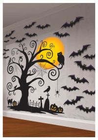 Spooky Halloween Indoor Decor | Indoor Wall Decorating Kit ...