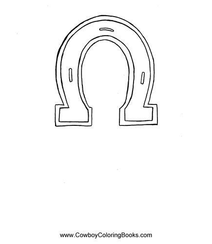 Horseshoe template-I used free BlockPoster.com to print