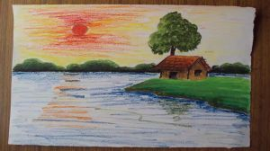 nature easy drawing scenery landscape paintings draw drawings oil google landscapes pastels natural painting colors colored kidsgallery ae