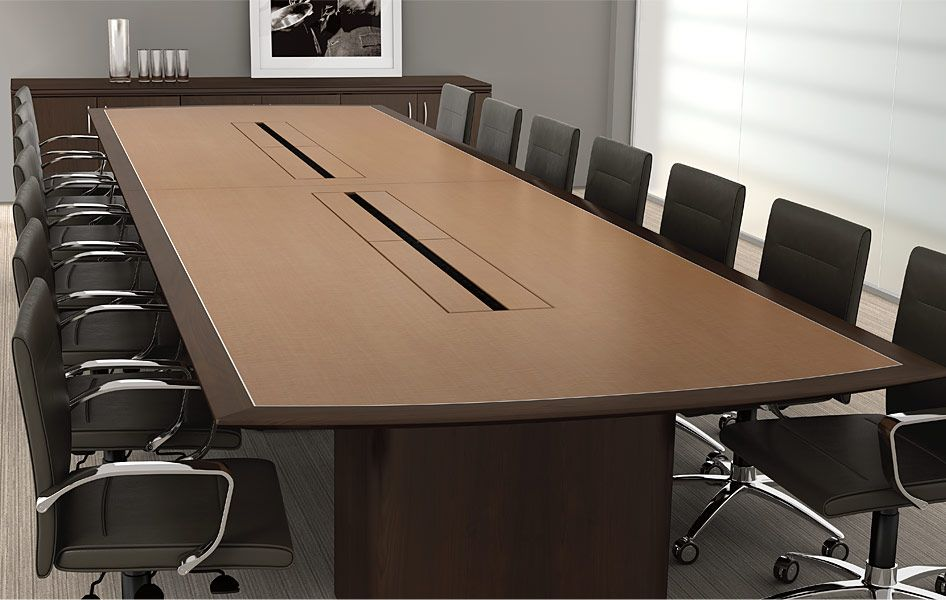 Magna Designs conference tables allow you to power your