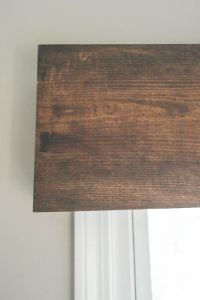 DIY Wood Valance