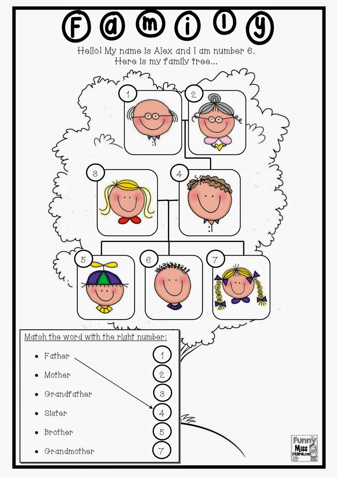 Resultado De Imagen De Family Members Worksheets For First Grade