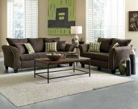 Chocolate Brown Sofa And Loveseat Chocolate Sofa Living ...
