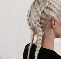 reverse double french braids | HAIR & FACES | Pinterest ...