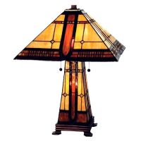 Mission Prairie Frank Lloyd Wright Style Lamp | Glass ...