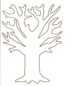 Vorlage zum Ausdrucken und Ausmalen - Baum Basteln