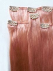 rose gold hair extensions 100