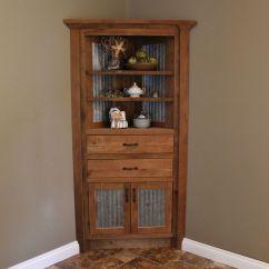Kitchen Cabinet Corner Shelf Memphis Cabinets Rustic Reclaimed Barn Wood W Tin