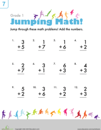 Single-Digit Addition | Worksheets, Math and Math skills
