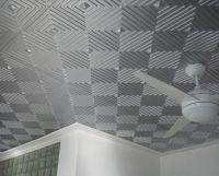 Awesome Gray-Silver Ceiling Tile Idea with Cool Geometric ...
