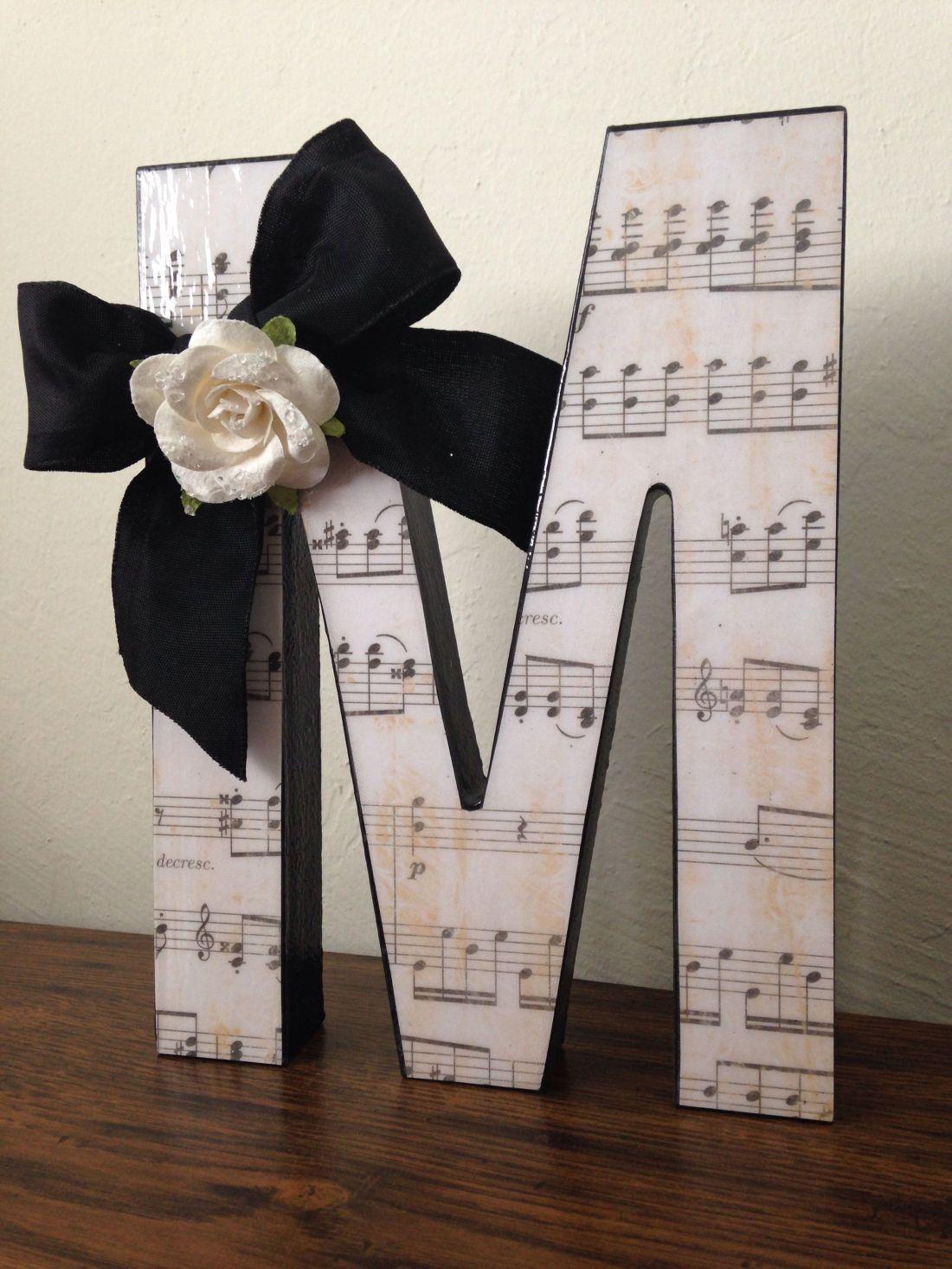 Cute diy gift for music teacheruse their initial