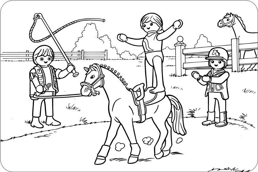 Ausmalbilder Pferde Turnier