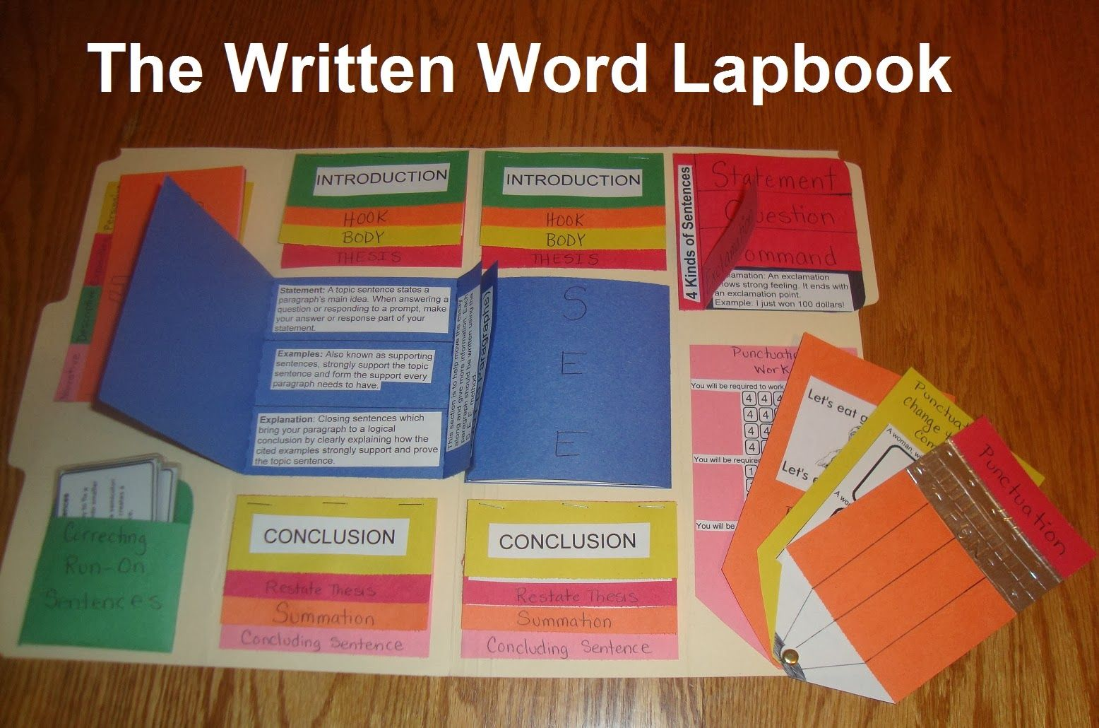 The Written Word Lapbook High School Level How To Write An Essay And Some Language Art Skills