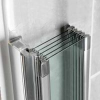 For family bathroom Manhattan M3 Swiftseal 5 Panel Folding ...