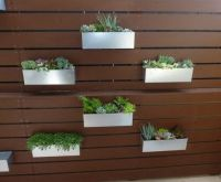 Metal Hanging Planter Box/ Horizontal Fence by ...