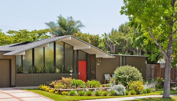 Mid Century Modern Home House Home Pinterest Gardens Red