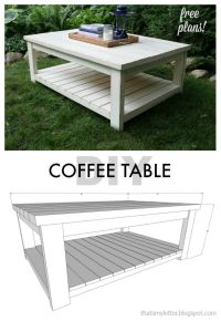 diy coffee table free plans | #ScrapWorkLove # ...