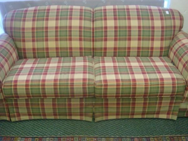 Country Plaid Sofa And Loveseat 184 BROYHILL Plaid Upholstered