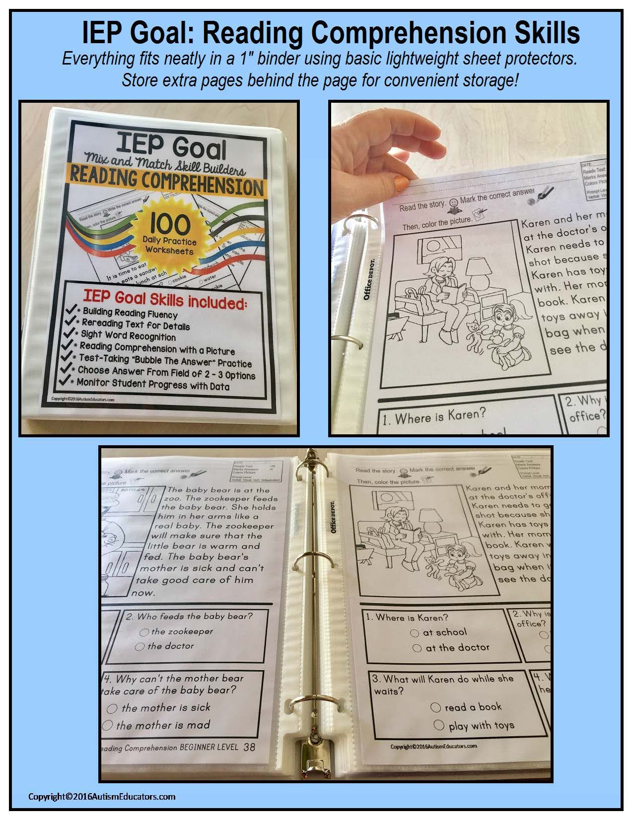 100 Print And Do Worksheets For Your Special Needs Students Autism And Other Learning