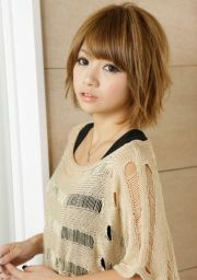 asian girl short hairstyle fade
