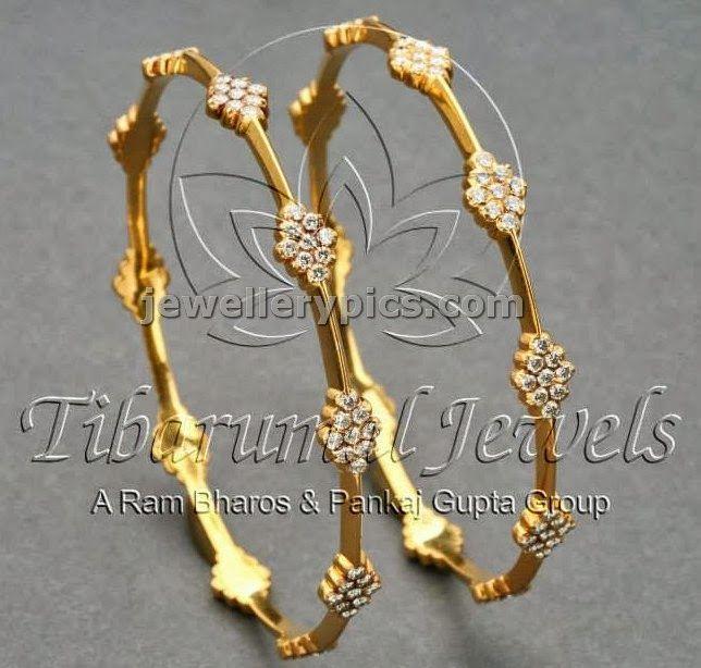 4 Diamond Bangle designs at Tibarumal jewellers