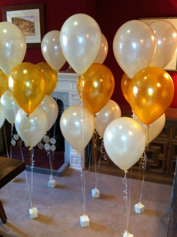 Black And Gold 50th Birthday Balloon Centerpieces