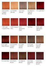 hair color chart dye