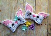 spring easter bunny felt bow hair