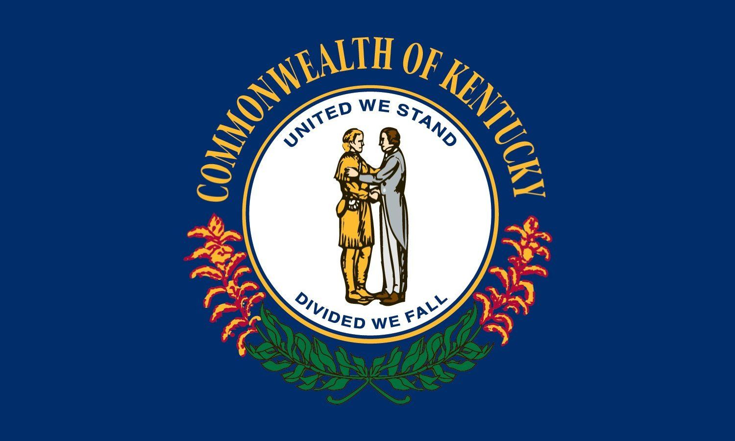 Ky State Flag Coloring Page