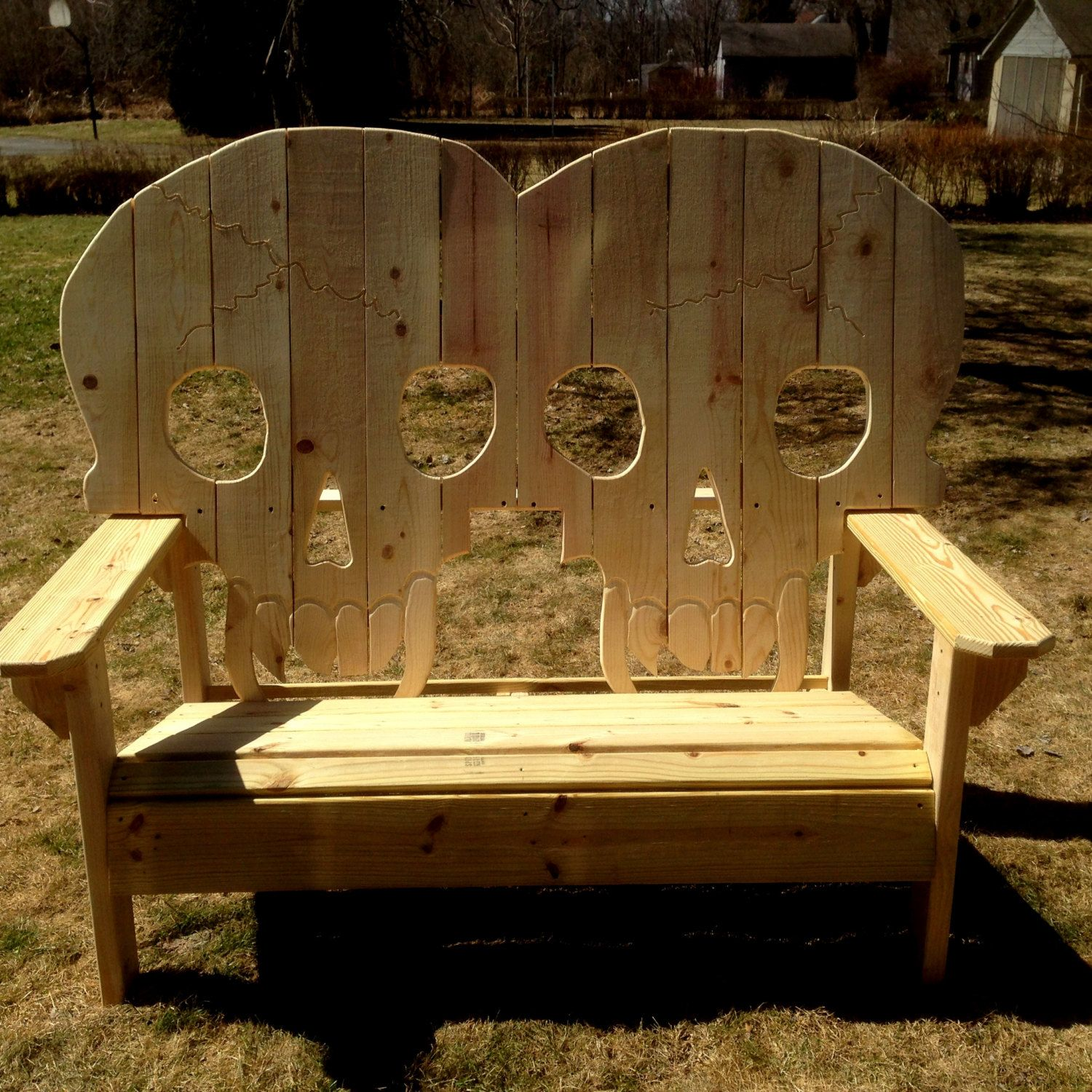 wooden skull chair round glass table and chairs double king size bench skeleton skulls