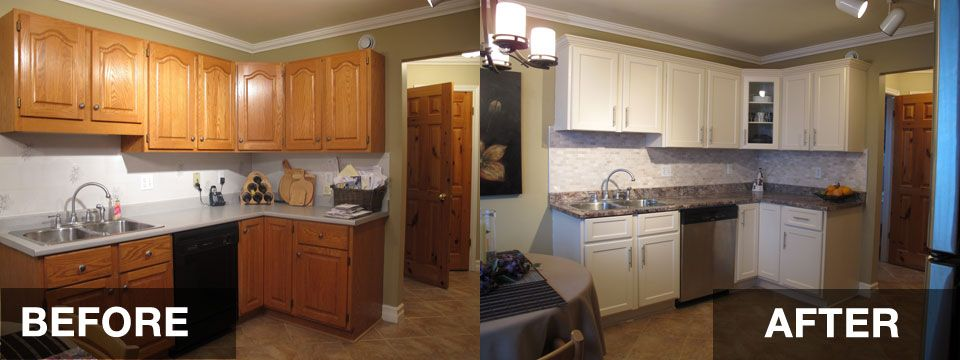 Reface Kitchen Cabinets Before And After Hac0 Dream
