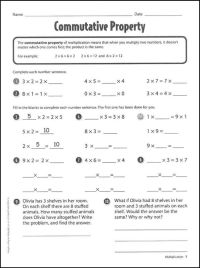 Commutative Property of Multiplication Worksheets ...