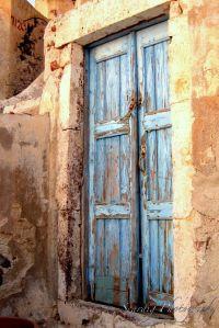 Wooden Rustic Door Santorini Greece Photo Print ...