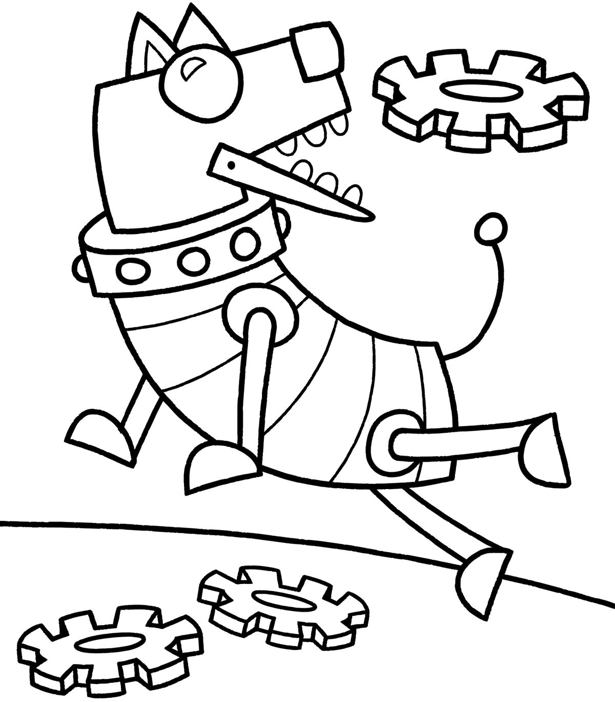 Robot Dog Click On The Image To Download This Fun Loving Creature And Colour Him In During The