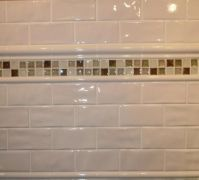 "3"" X 6"" - ANTIGA WHITE WAVY CRACKLE SUBWAY TILE WITH 2"" X ..."