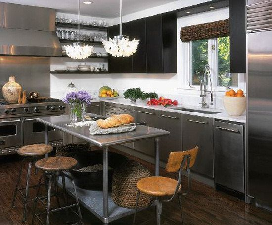 contemporary kitchen islands drawer boxes best 25+ stainless steel island ideas on pinterest ...
