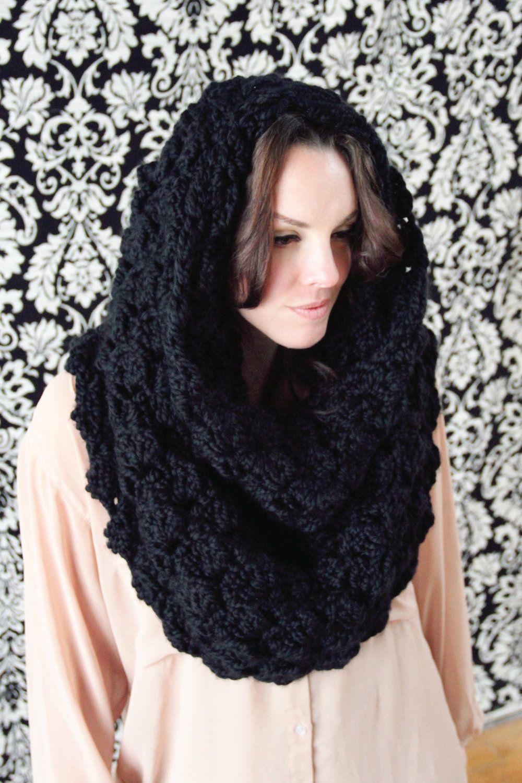 Crochet Pattern Convertible Hooded Scarf