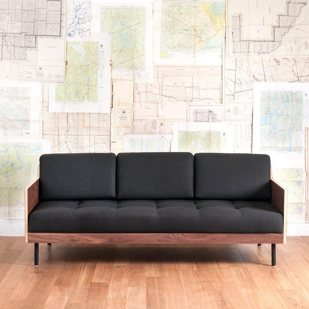 modern square sofa cheap deals gus sleeper coaster charcoal chenille upholstery