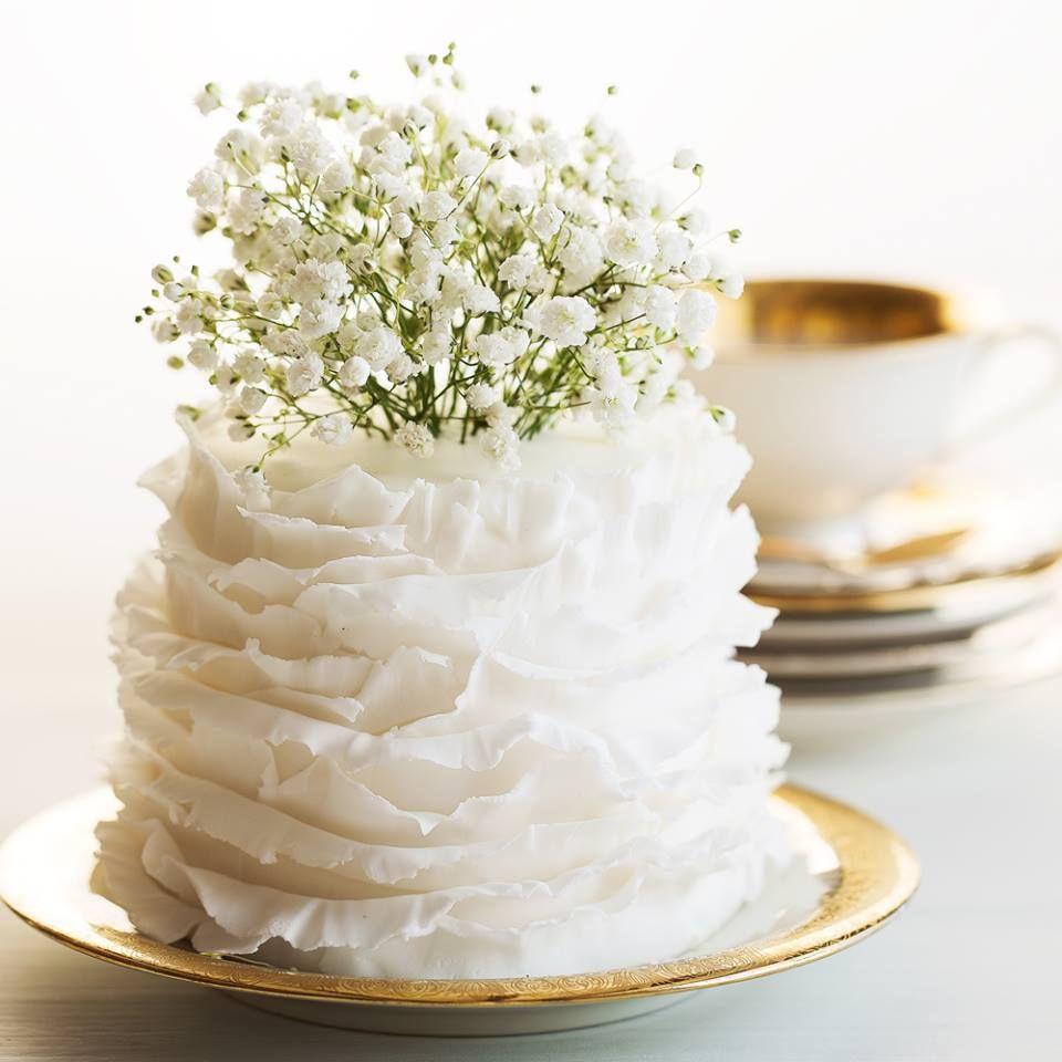 Small Simple Wedding Cake  FABULOUS DECADENT FOOD  DRINK  Pinterest  Wedding breakfast